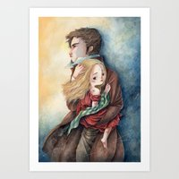 les miserables Art Prints featuring les miserables by Fabiana Attanasio