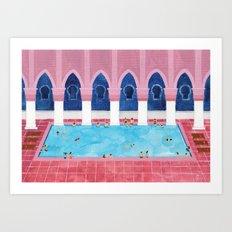 Moroccan Pool Art Print