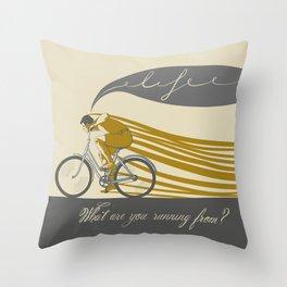 Run Throw Pillow