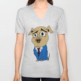 Worried Dog Unisex V-Neck