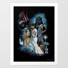 Jesus Christ Super StarWars Art Print