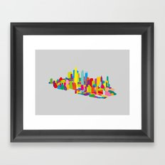 New WTC Isometric Framed Art Print