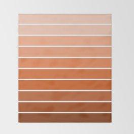 70s Stripe - ombre sunset, sun, sunset, boho, desert, rust, orange, brown, sand, terracotta Throw Blanket