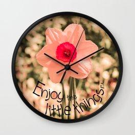 Spring Soft Pink Daffodil Blossom Wall Clock