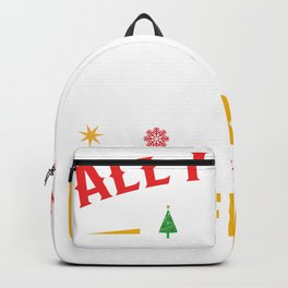 Ugly Sweater All I want for Christmas is a Boyfriend Backpack
