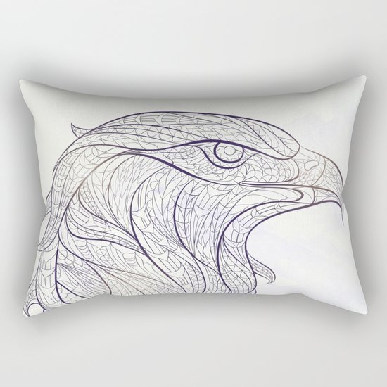 Ethnic Eagle Rectangular Pillow