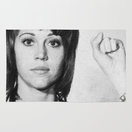 Jane Fonda Mug Shot Vertical Rug