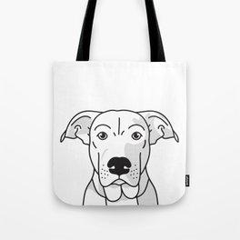 Labrador Mix Dog Portrait -Custom, black palette, minimal Tote Bag