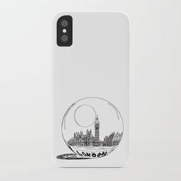 London in a glass ball . art iPhone Case
