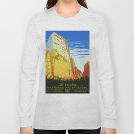 Zion National Park - Vintage Travel Long Sleeve T-shirt