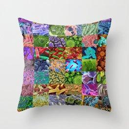 Bacteria Montage Throw Pillow