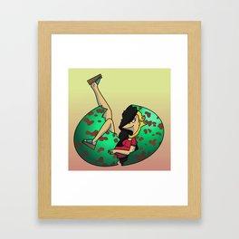 Bunny In Egg Framed Art Print