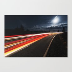 Moonlit Drive Canvas Print