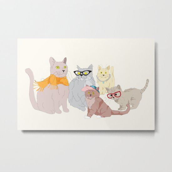 Accessory Cats Metal Print