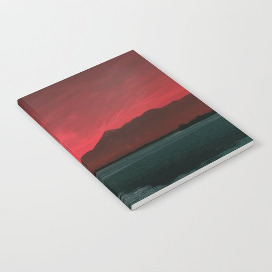 RED SKY OVER LAKE Notebook