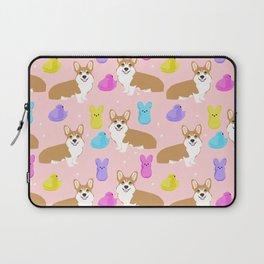Corgi peeps easter marshmallow spring traditions dog breed welsh corgi Laptop Sleeve