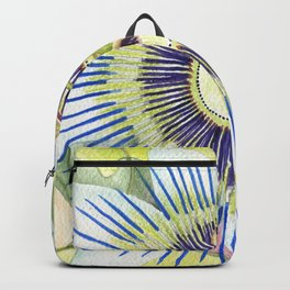 Passionflower Watercolor Backpack