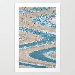 Ocean Geometric Art Print