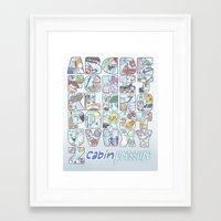 cabin pressure Framed Art Prints featuring Cabin Pressure - From A to Z by enerjax