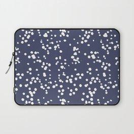 white dots on purple Laptop Sleeve