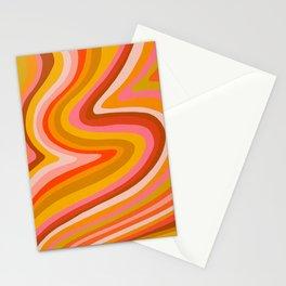Sunshine Melt – Retro Ochre Stationery Cards