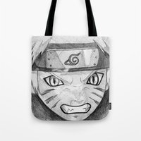 naruto Tote Bags featuring Naruto by DeMoose_Art