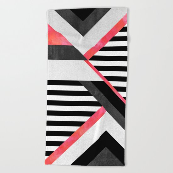 Stripe Combination / Pink Beach Towel