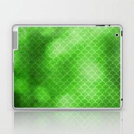 Green Flash small scallops pattern with texture Laptop & iPad Skin