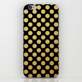 Medium gold dots pattern iPhone Skin