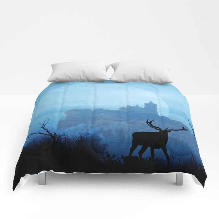 Stag moon Comforters