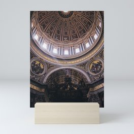 Photo of Rays of Sunlight through Saint Peter's Basilica, the Church in Vatican City in Rome, Italy I   Fine Art Colorful Travel Photography    Mini Art Print