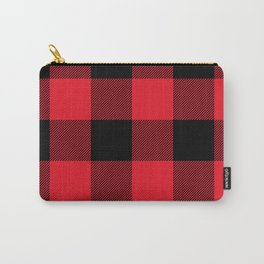 Big Red and Black Buffalo Plaid Carry-All Pouch