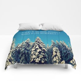 I Went to the Woods Comforters