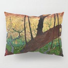 Flowering Plum Orchard (after Hiroshige) Japanese Motif by Vincent van Gogh Pillow Sham