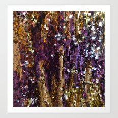PURPLE AND GOLD Art Print
