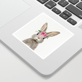Baby Rabbit with Flower Crown Sticker