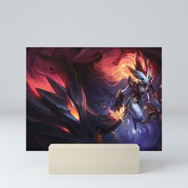 Shadowfire Kindred League of Legends Mini Art Print