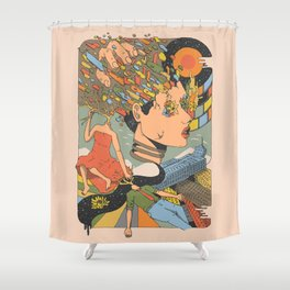 A Shattered Mind Shower Curtain