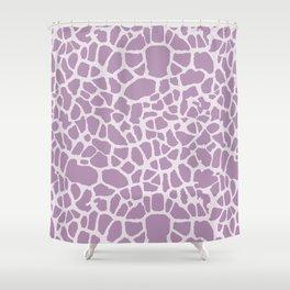 Chic Lavender Purple Giraffe Print Girly Animal Pattern Shower Curtain
