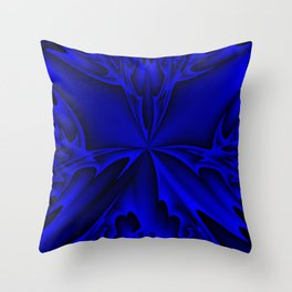Midnight Blue Abstract 5 Throw Pillow