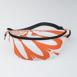 The Modern Flower White & Orange Fanny Pack
