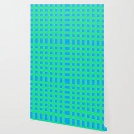 Blue and Green Buffalo Check Wallpaper