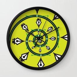 """Pen Tool Hypnosis"" Surviving Art School Badge Wall Clock"