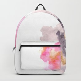 Watercolor Pink Black Gold Flow | [dec-connect] 35. cleanse Backpack
