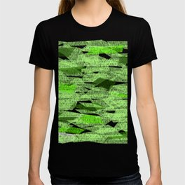 Green lines that look like leaves in the fall T-shirt