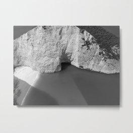 Black and White Zakynthos Metal Print