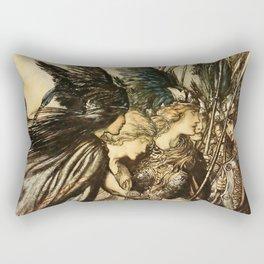 """Sisters, Your Help!"" by Arthur Rackham Rectangular Pillow"
