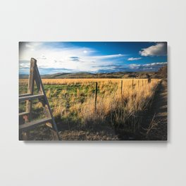 That 'Ol Country Road Metal Print
