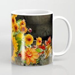 Fall Flowers on a Farm Table Coffee Mug