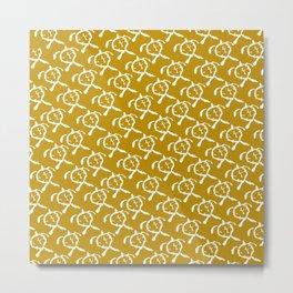 Honu (Gold) Metal Print